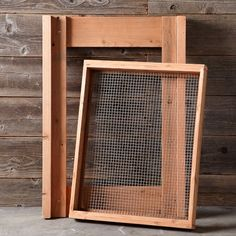 I made my own with scraps of redwood. Cost me $5.00 for the hardware cloth. William Sonoma sells for $195! Redwood Compost Sieve Sifter #williamssonoma