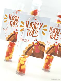 Turkey Toes Gift Tag