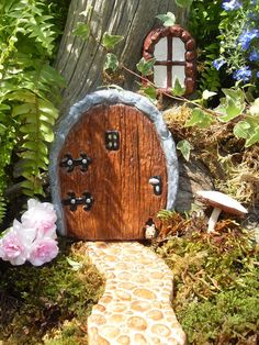Fairy Door - Fairy Door Set (Door, Window & Pathway Option)