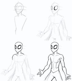 how to draw spiderman homecoming step by step