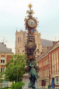 Town Clock, Amiens, France