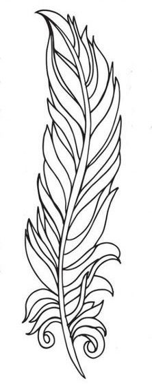 Feather Stencil, Feather Template, Feather Drawing, Feather Painting, Feather Art, Feather Pattern, Feather Tattoos, Fabric Painting, Bird Feathers