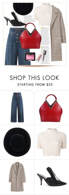 """Street Sophistication"" by swankswanker ❤ liked on Polyvore featuring RED Valentino, Rimen & Co., Eugenia Kim, Rachel Comey, H&M, Givenchy and NARS Cosmetics"