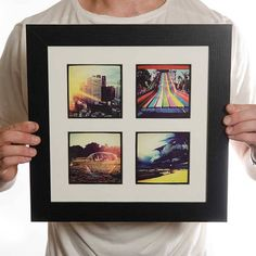 personalised framed photo prints by instajunction | notonthehighstreet.com