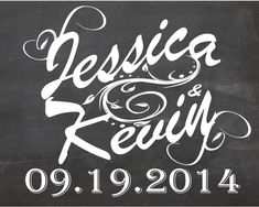 Wedding Name and date chalkboard sign - Personalized & Printable Chalkboard poster, custom wedding sign