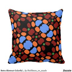 Retro Abstract Colorful Spotted Pattern pillow