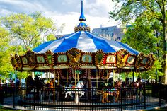Historic Franklin Square and Stephen Starr's SquareBurger are officially open to the public with mini-golf, carousel rides and Cake Shakes. (Photo by J. Fusco for Historic Philadelphia)