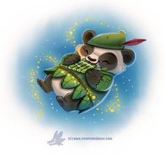 Daily Paint #1233. Peter Panda by Cryptid-Creations Time-lapse, high-res and WIP sketches of my art available on Patreon (: Twitter • Facebook • Instagram • DeviantART