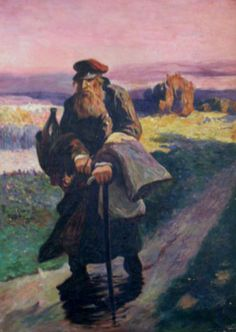 Jewish Traveller, Poland, by Michal Pociecha (Polish, 1852-1908).