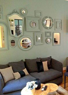 Savvy Style Lessons from Week One of the Small Cool Contest — Small Cool 1st Apartment, Apartment Plans, Apartment Therapy, Small Space Living, Small Spaces, Dulux Paint Colours, Ornate Mirror, Mirrors, Cool Apartments