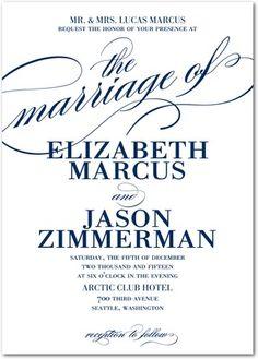 Modish Marriage - Signature White Wedding Invitations - East Six Design   love<3