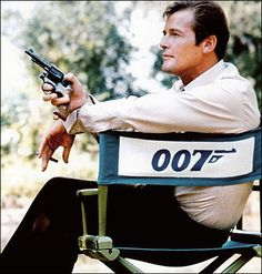 Roger Moore, is an English actor, perhaps best known for playing British secret agent James Bond in the official film series for seven films between 1973 and and Simon Templar in The Saint from 1962 to 1969 Roger Moore, James Bond Actors, James Bond Movies, Jerry Lee Lewis, Angela Lansbury, Kirk Douglas, Casino Royale, George Lazenby, Bond Series