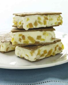 Apricot-Almond Ice Cream Sandwiches