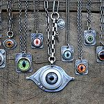 Eye Pendant Necklaces - One by One They Come - by jessitaylor on Flickr