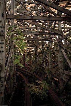 Nara Dreamland, amusement park based on Disneyland, in Nara, Japan. Abandoned in 2006 due to low attendance. -- eaf <3 2014-03-24