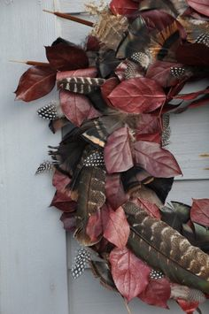 Hometalk :: DIY - Fall Wreath With Turkey Feathers