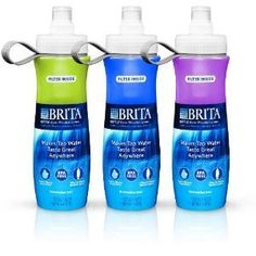 BRITA Water Bottle Filtration System...I bought myself one of these water bottles and they are amazing !! I would highly recommend buying one. Got mine for $9.99 at Walmart...