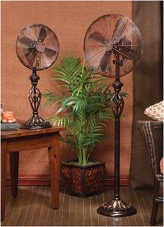 Vintage Swirl Table Fan 30 Wattsvintage Floor 45 Wattsdecorative And Functional These Oscillating Fans Are Whisper Quiet