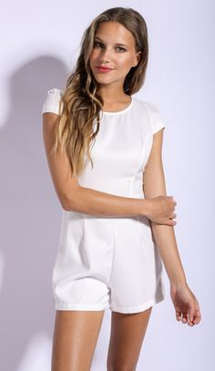 Yvette Playsuit in White $39.99 http://www.popcherry.com.au/new-arrivals/
