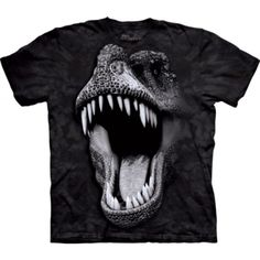 The Big Face Glow Rex T-Shirt from THE MOUNTAIN is one of the coolest dino tees you'll ever find! For a look that will never go extinct, shop our huge collection of DINOSAUR T-SHIRTS. T Rex Shirt, Dinosaur Shirt, Big Face, Oeko Tex 100, Gliders, Classic T Shirts, Shirt Designs, Tee Shirts, Mens Tops
