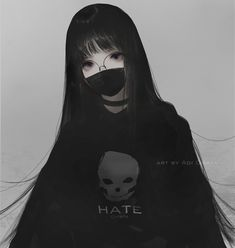 ArtStation - Hatechan, Aoi Ogata As a result to all or any adults, I will Dark Anime Girl, Manga Anime Girl, Pretty Anime Girl, Anime Girl Drawings, Beautiful Anime Girl, Kawaii Anime Girl, Anime Guys, Gothic Anime Girl, Blue Anime