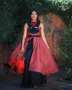 Modern TSWANA SHWEAHWE WEDDING in 2020 have become more fascinating and we have gathered a list of some of the best ones you would love African Fashion Skirts, South African Fashion, African Fashion Designers, Africa Fashion, Women's Fashion, Fashion Outfits, African Wear, African Dress, African Style