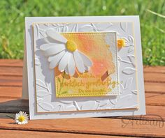 Stampin Up! Daisy watercolored