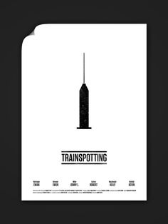 Trainspotting by Wonchan Lee   - Graphic Design - movie poster film cinema minimalist