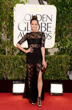 Louise Roe on the Golden Globes Red Carpet 2013
