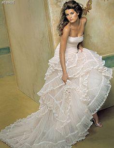 Vestido novia ladera pronovias