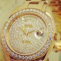 #rolex #diamonds #gold