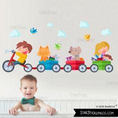 Triciclo con animales - Vinilo infantil