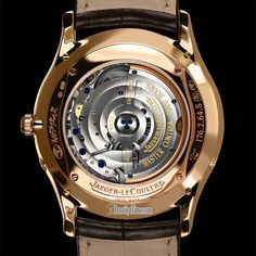 Case Back Jaeger Lecoultre Watches, 22 Carat Gold, Gold Hands, Rose Gold Color, Oclock, Watches For Men, Jewels, Amazing, Bijoux