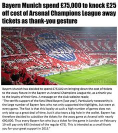 Awesome work by the Bayern Owners to do this!