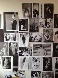 Richard Nicoll's black and white mood board