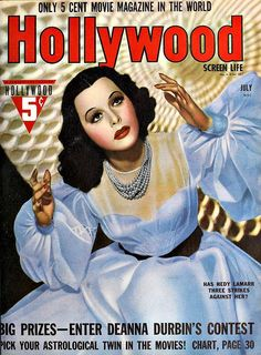Hedy Lamarr posters for sale online. Buy Hedy Lamarr movie posters from Movie Poster Shop. We're your movie poster source for new releases and vintage movie posters. Star Magazine, Movie Magazine, Hollywood Magazine, Deanna Durbin, Hedy Lamarr, Vintage Movies, Vintage Posters, Vintage Photos, Most Beautiful Women
