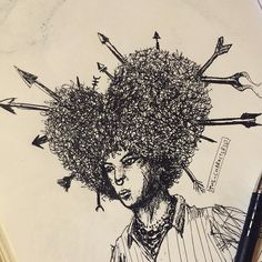 The looooove Afro . . . #characterist  #drawings #art #artsy #artist #artwork #doodle #afro #black #instaart #instagood #sketchbook #illustration  #artwork #artoftheday #pen #pose #artsbeautifulx #inkfeature #artofdrawingg #arthelp #drawing #sketching #sketches #doodles #artmagazine #hairstyle #hair #love