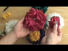 EASY METHOD, BEAUTIFUL SILKY FLOWER # 2, DIY fabric flower tutorial - YouTube