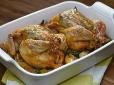 Roast Chicken Stuffed with Lemon and Rosemary : Recipes : Cooking Channel