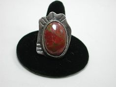 Cherry Creek Jasper Sterling Silver Ring by SilverSeahorseDesign