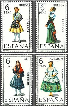 Pt Portugal, Spanish Costume, Rubber Raincoats, Stamp Collecting, Regional, Postage Stamps, Empire, Spain, Costumes