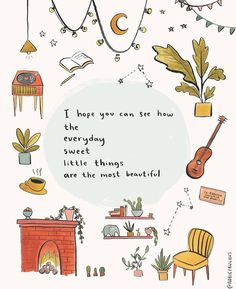 life quotes & We choose the most beautiful I Hope You Can See How Art Print - gratitude appreciation little things illustration for you.Sometimes routine is the greatest gift. most beautiful quotes ideas Pretty Words, Beautiful Words, Cool Words, All The Bright Places, Sweet Little Things, Red Things, Little Things Quotes, Happy Things, Small Things