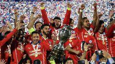 Chile celebrate Copa America final