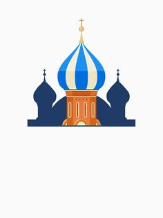 """""""Cute St Basil's Cathedral Moscow Russia Travel Landmark"""" T-shirt by passionemporium St Basils Cathedral, St Basil's, Moscow Russia, Sell Your Art, Tshirt Colors, Classic T Shirts, Saints, Cartoon, Artist"""