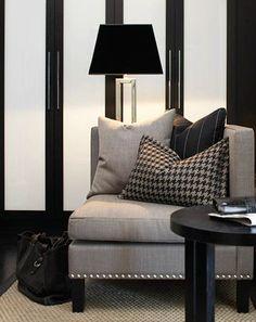 Grey, black and white! PERFECT! Haus Design: Slettvoll: Ralph Lauren With A European Twist
