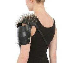 Halaby Spiked Gladiator Leather Shoulder Pad | UpscaleHype
