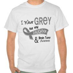 I Wear Grey 42 Daughter Brain Tumor T-shirts