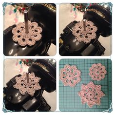 Spool Pin Doilies Doily set of 3 for Sewing Machine by MidtownSouk