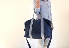 17d7b9d893 Borsone viaggio donna,borsa weekend uomo,borsone palestra,grande borsa a tracolla  da viaggio,in tessuto jeans,fatta a mano in italia,vegan