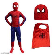 Clothing Sets ITSMYCOSTUME Spiderman Halloween Superhero Costume Set of 4 (Costume,Gloves,Mask,Cape) for Kids Fancy Dress Costume (Material : Nylon Lycra) Top Fabric: Nylon Lycra Bottom Fabric: Nylon Lycra Sleeve Length: Three-Quarter Sleeves Top Pattern: Printed Bottom Pattern: Printed Multipack: Single Sizes:  IMC317 2-3 Years IMC317 3-4 Years IMC317 4-5 Years IMC317 5-6 Years IMC317 6-7 Years IMC317 7-8 Years Country of Origin: India Sizes Available: 2-3 Years, 3-4 Years, 4-5 Years, 5-6 Years, 6-7 Years, 7-8 Years   Catalog Rating: ★4 (428)  Catalog Name: Pretty Funky Boys Top & Bottom Sets CatalogID_2481548 C59-SC1182 Code: 005-12792445-2031
